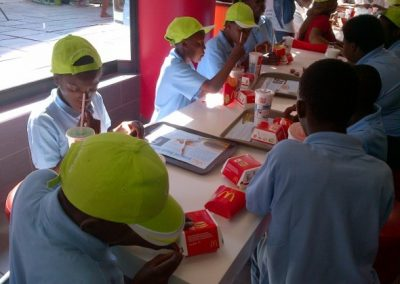 chance children home trip out to mac donalds
